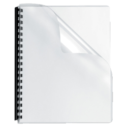 "Fellowes® Clear Presentation Binding Covers, 8 3/4"" x 11 1/4"", Clear, Pack Of 100"