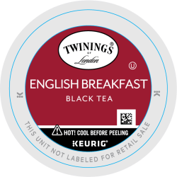 Twinings® English Breakfast Tea Single-Serve K-Cups®, 0.11 Oz, Box Of 24
