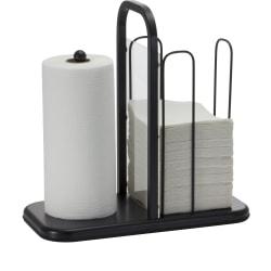 "BreakCentral Napkin/Towel Holder, 15 13/16""H x 16""W x 8""D, Black"
