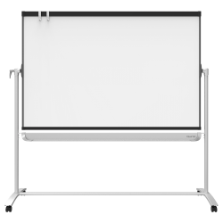"""Quartet® Prestige® 2 Magnetic Dry-Erase Whiteboard With Mobile Easel, 72"""" x 48"""", Plastic Frame With Graphite Finish"""