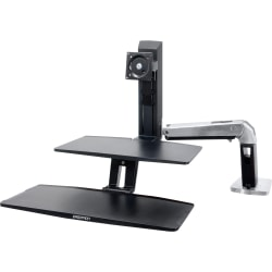 Ergotron® WorkFit-A Sit-To-Stand Workstation With Suspended Keyboard, Black