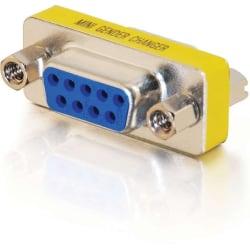 C2G DB9 F/F Mini Gender Changer (Coupler) - 1 x DB-9 Female Serial - 1 x DB-9 Female Serial - Silver, Yellow