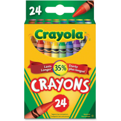 Crayola® Standard Crayons, Assorted Colors, Box Of 24 Crayons