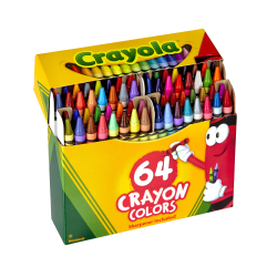 Crayola® Standard Crayons With Built-In Sharpener, Assorted Colors, Box Of 64 Crayons