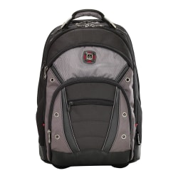 Wenger® Synergy Wheeled Laptop Backpack, Black/Gray
