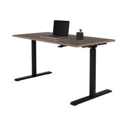 "Realspace® Magellan Pneumatic Height-Adjustable Standing Desk, 60"" Gray"