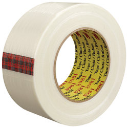 """Scotch® 8981 Strapping Tape, 3"""" Core, 2"""" x 60 Yd., Clear, Case Of 24"""