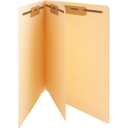 "Business Source 3/4"" Expanding Medical File Folders - Letter - 8 1/2"" x 11"" Sheet Size - 3/4"" Expansion - 2"" Fastener Capacity - End Tab Location - 11 pt. Folder Thickness - Manila - Recycled - 40 / Box"