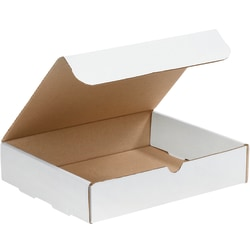 """Office Depot® Brand White Corrugated Mailers, 11 1/8"""" x 8 3/4"""" x 2"""", Pack Of 50"""