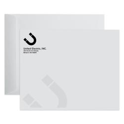 "Custom Black Ink Open End Catalog Mailing Envelopes, 10"" x 13"", White Wove, Box Of 500"