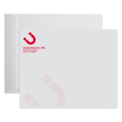 Custom 1-Color, Open End Catalog Mailing Envelopes, 10 x 13, White Wove, Box of 500