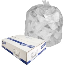 Genuine Joe Economy High-Density Can Liners, 45 Gallons, Translucent, Box Of 250