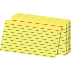 "OfficeMax Ruled Index Cards, 3"" x 5"", Pack Of 100"