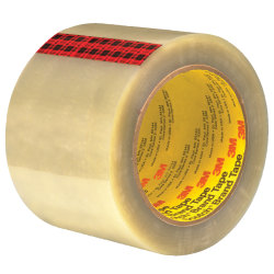 "3M™ 351 Carton Sealing Tape, 3"" Core, 3"" x 55 Yd., Clear, Case Of 24"