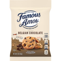 Famous Amos® Cookies, Chocolate Chip, Box Of 8