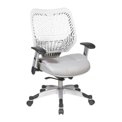 Office Star™ Space Revv Mesh Mid-Back Chair, Ice White/Shadow