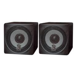Pyle Mini Cube PCB3BK Full-Range 2-Way Bookshelf Speaker