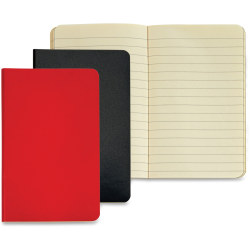 """TOPS Idea Collective Mini Softcover Journals - 40 Sheets - Case Bound - 3 1/2"""" x 5 1/2"""" - Assorted Paper - Red, Black Cover - Paperboard Cover - Durable Cover, Acid-free, Flexible Cover, Unpunched - 2 / Pack"""