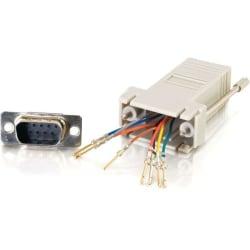 C2G RJ45 to DB9 Male Modular Adapter - Gray - 1 x RJ-45 Serial - 1 x DB-9 Male Serial - Gray