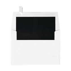 """LUX Invitation Envelopes With Peel & Press Closure, A6, 4 3/4"""" x 6 1/2"""", Black/White, Pack Of 500"""