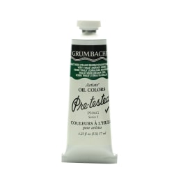 Grumbacher P306 Pre-Tested Artists' Oil Colors, 1.25 Oz, Thalo Green (Yellow Shade), Pack Of 2