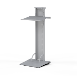 Mayline® Lighted Mobile Lectern, Silver