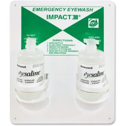 """Impact Products Double Eyewash Station - 16 oz - 13"""" x 4"""" x 11"""" - White"""