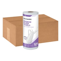 """Highmark® Premium 2-Ply Tear-A-Size Kitchen Towel Rolls, 11"""" x 6"""", White, 121 Towels Per Roll, Case Of 24 Rolls"""
