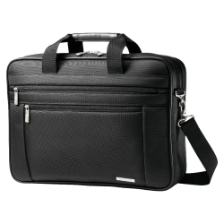 "Samsonite® Classic Business Briefcase, 12"" x 16.5"" x 4.5"", Black"