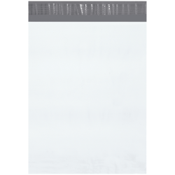 """Office Depot® Brand 12"""" x 15-1/2"""" Poly Mailers, White, Case Of 500 Mailers"""