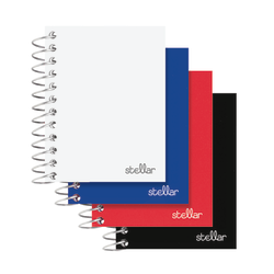 "Office Depot® Brand Mini Stellar Spiral Poly Notebook, 2 1/2"" x 4"", College Ruled, 300 Pages (150 Sheets), Assorted Colors"