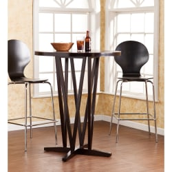 Southern Enterprises Devon Bar Table, Round, Dark Espresso