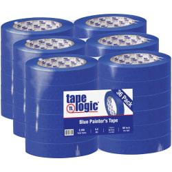 "Tape Logic® 3000 Painter's Tape, 3"" Core, 1"" x 180', Blue, Case Of 36"