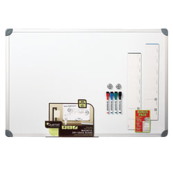 "Quartet® Euro Style Magnetic Dry-Erase Whiteboard, 24"" x 36"", Aluminum Frame With Silver Finish"