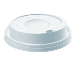 Dart® Cafe G Cappuccino Dome Lids, For 8 Oz Cups, White, Case Of 1,000