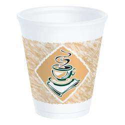 Dart Cafe G Design Foam Cups, 8 Oz, Assorted Colors, Box Of 1,000