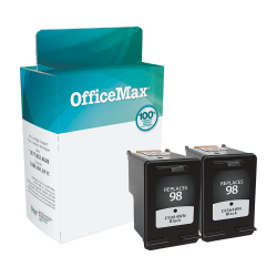 OfficeMax® Brand OM99929 Remanufactured Ink Cartridge Replacement For HP 98 Black, Pack Of 2