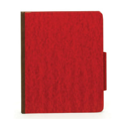 [IN]PLACE® Moisture-Resistant Classification Folders, Legal Size, 2 Dividers, 30% Recycled, Dark Red, Box Of 10