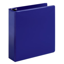 "Office Depot® Brand Durable Slant D-Ring Binder, 2"" Rings, 65% Recycled, Blue"