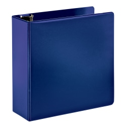 """Office Depot® Brand Durable 3-Ring Binder, 4"""" D-Rings, 65% Recycled, Blue"""