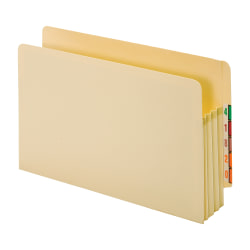 """Office Depot® File Pockets, End-Tab, Legal Size (8-1/2"""" x 14""""), 3-1/2"""" Expansion, Manila, Box Of 25"""