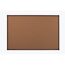 """Office Depot® Brand Framed Cork Board, 48"""" x 36"""", Mahogany, Aluminum Frame"""