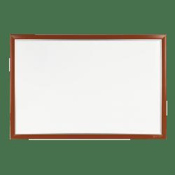 "INFUSE Magnetic Dry-Erase Whiteboard, 96"" x 48"", 100% Recycled, Aluminum Frame With Mahogany Finish"