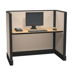 Cube Solutions Commercial-Grade Low-Height Call-Center Cubicle, Single Cubicle