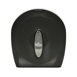 "Georgia-Pacific Jumbo Jr. 1-Roll Bathroom Tissue Dispenser, 11 3/8""H x 10 5/8""W x 5 1/2""D, Translucent Smoke"