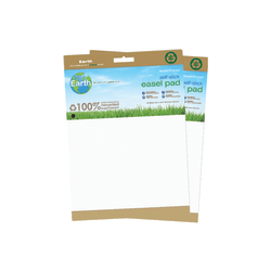 """MasterVision™ Earth 100% Recycled Self-Stick Easel Pads, 25"""" x 30"""", White, 30 Sheets, Pack Of 2"""