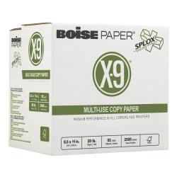 "Boise® SPLOX® Speed-Loading Reamless Paper, X-9®, Letter Size (8 1/2"" x 11""), 20 Lb, FSC® Certified, Ream Of 2,500 Sheets"