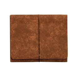 "Office Depot® Brand Heavy-Duty Expanding Wallets, 3 1/2"" Expansion, Letter Size, Brown, Box Of 5 Wallets"