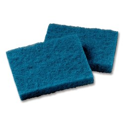 "3M Scotch-Brite™ Synthetic Fiber All-Purpose Scouring Pads, 4"" x 5 1/4"", Blue, Case Of 40"