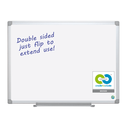"""MasterVision® Earth Silver Easy Clean™ 80% Recycled Dry-Erase Board, 36"""" x 48"""", Silver Aluminum Frame"""